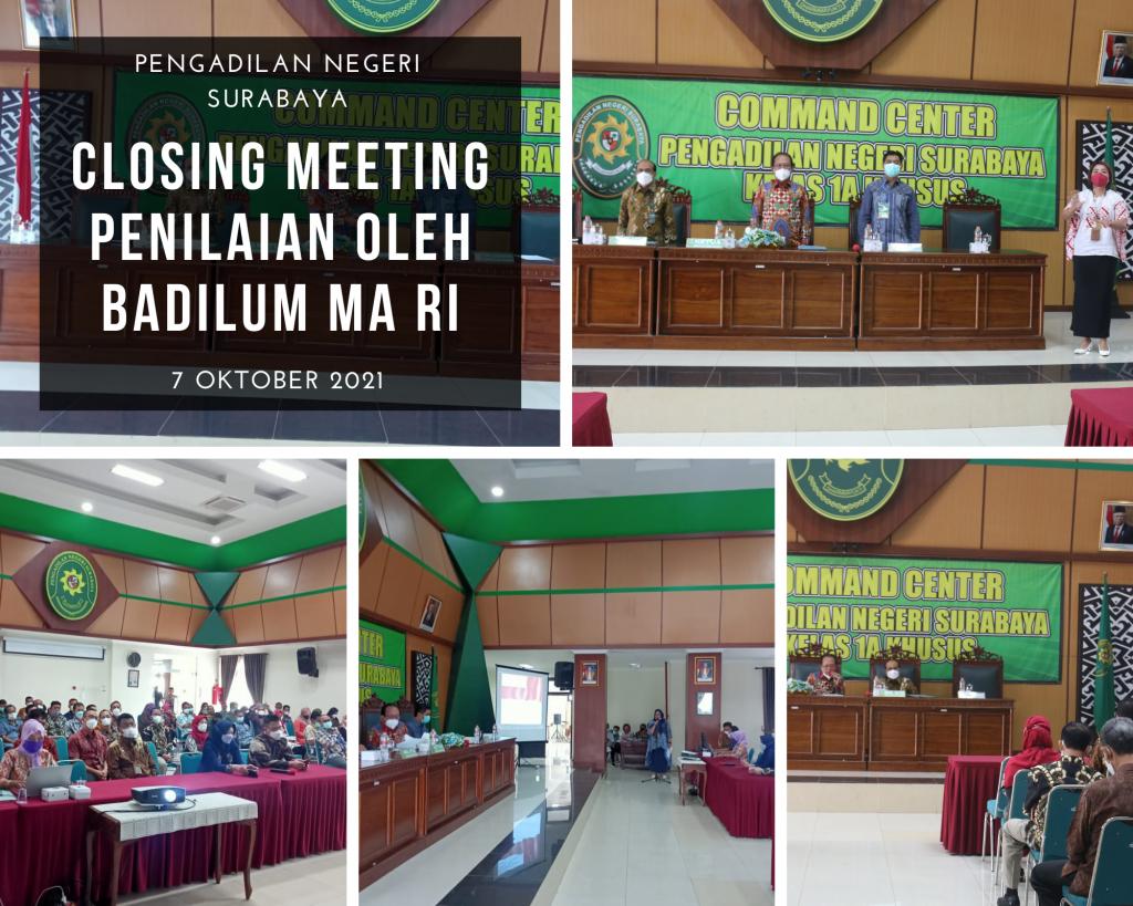 Closing meeting badilum MA RI