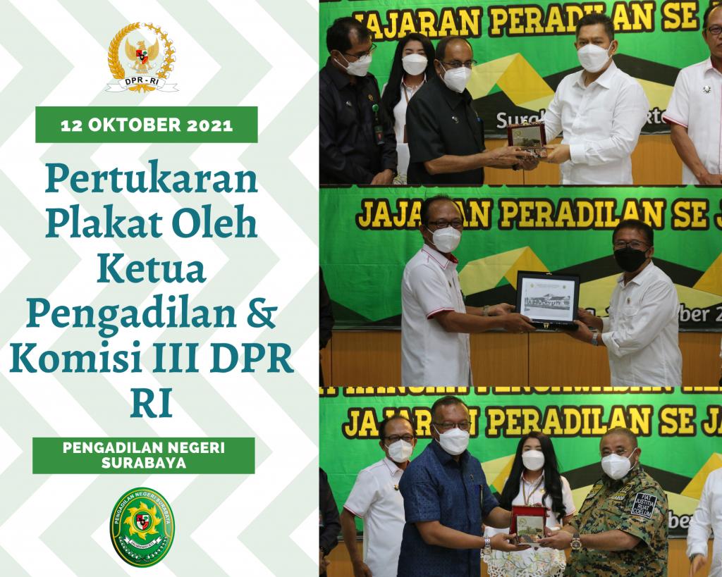 Pertukaran Plakat Oleh Ketua Pengadilan dengan Komisi III DPR RI (1)